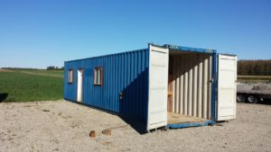 8x40 insulated shipping container office for sale call 1 519 741 6317 or visit www AffordableBuildings ca pic4